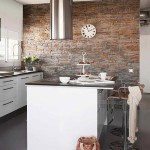 Paredes de piedra en la cocina