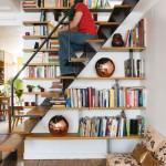 Librería en la escalera
