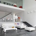 Un salón en blanco