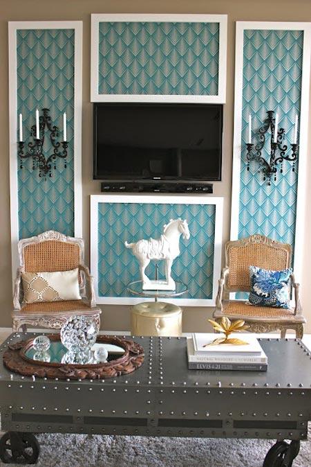 Ayuda para decorar la zona del televisor
