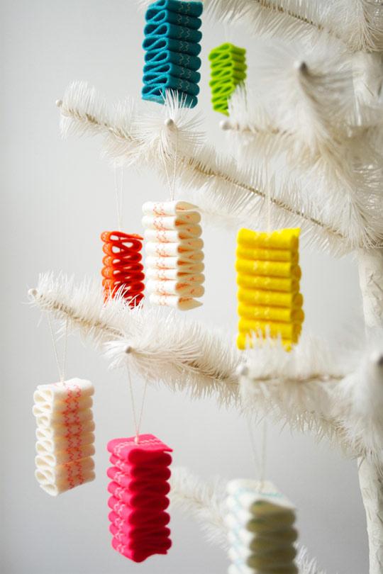 DIY Felt Ribbon Candy Ornaments