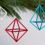 Adornos navideños geométricos
