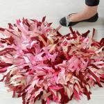 Como hacer una alfombra con forma de corazón