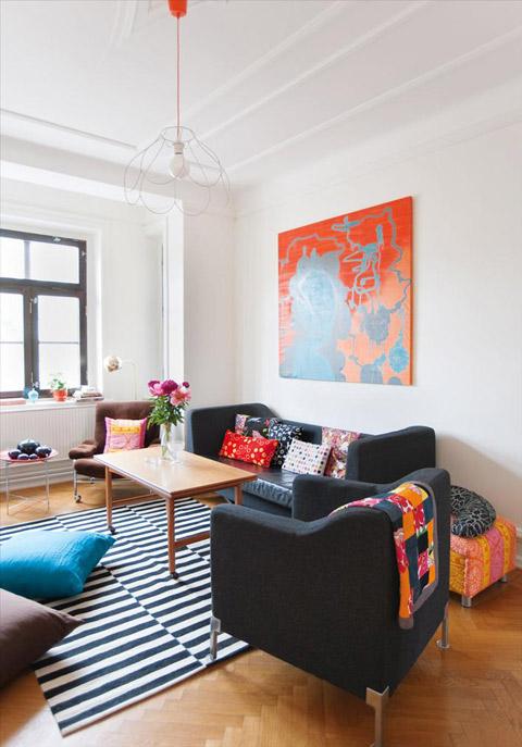 Apartamento familiar: ¡viva el color!