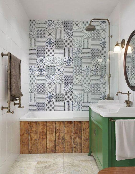 Ba os con azulejos hidr ulicos inspiraci n - Fenetre salle de bain leroy merlin ...