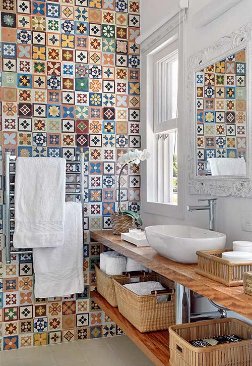 Baño Con Antebaño Medidas:Azulejos hidráulicos en el baño