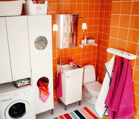 Armario Baño Pequeno:Soluciones para baños compartidos con la zona de la colada