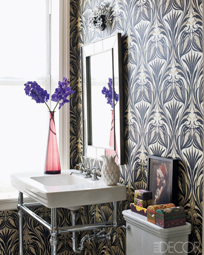 Sanitarios Baño Antiguos:ELLE Decor Celebrity Bathrooms