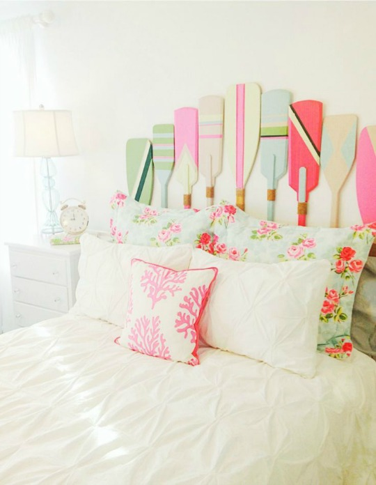 Dormitorio náutico romántico