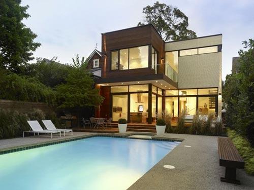 Casas Modernas: Blanco y madera