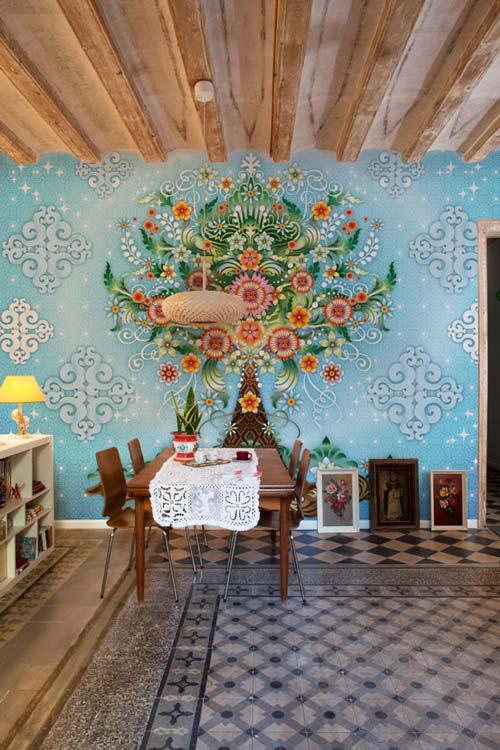 Papeles pintados y murales de Catalina Estrada