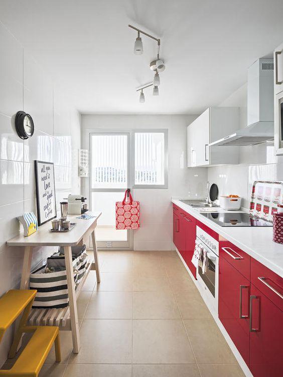 Cocina de color ROJO, inspiración | Jujuy Al Momento