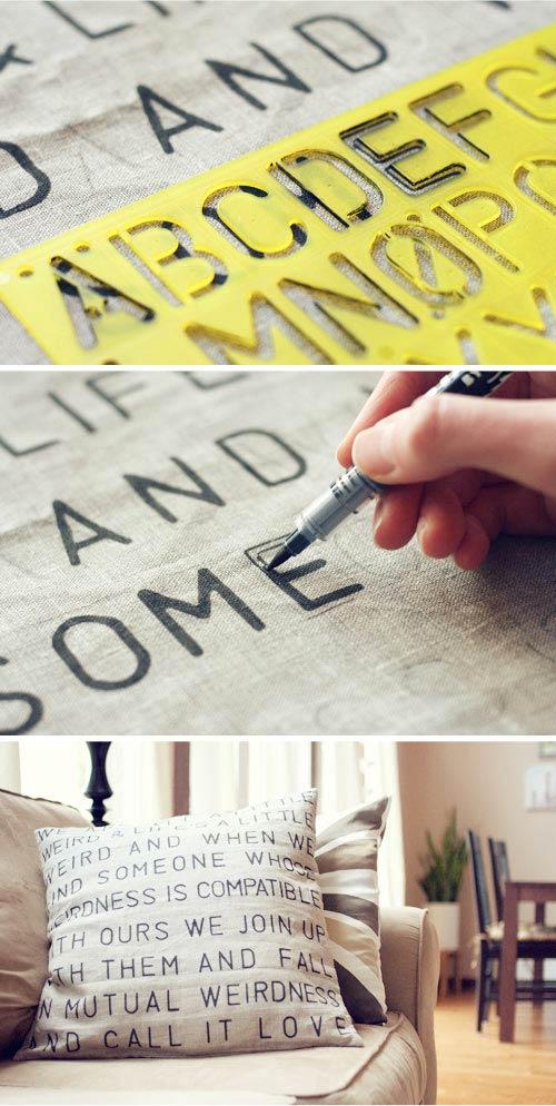 DIY: Cojín con mensaje