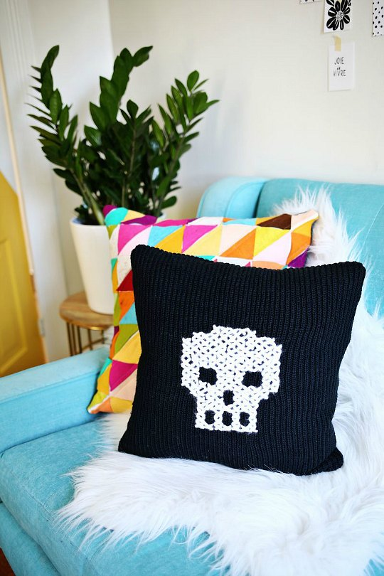 Diy Decoracion Halloween ~ Proyectos Halloween coj?n calavera  Decoraci?n Hogar, Ideas y
