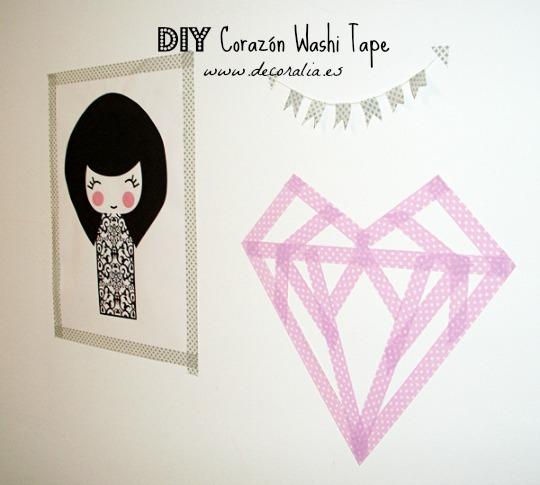 San Valentín: Corazón de washi tape
