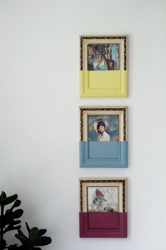 organizando los libros transforma tus cuadros pasados de moda