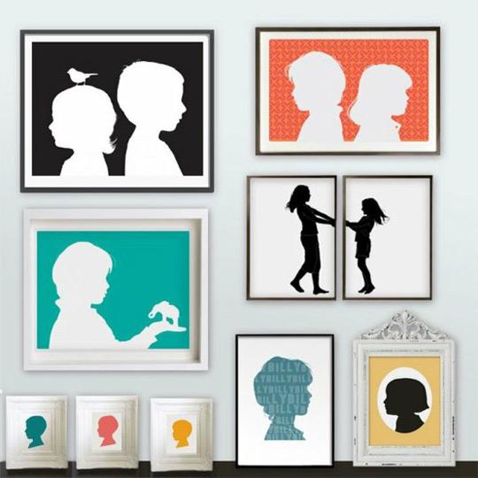 ideas para cuadros de siluetas