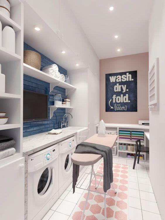 8 cuartos de lavado y plancha s per pr cticos for Cuarto de lavado ikea