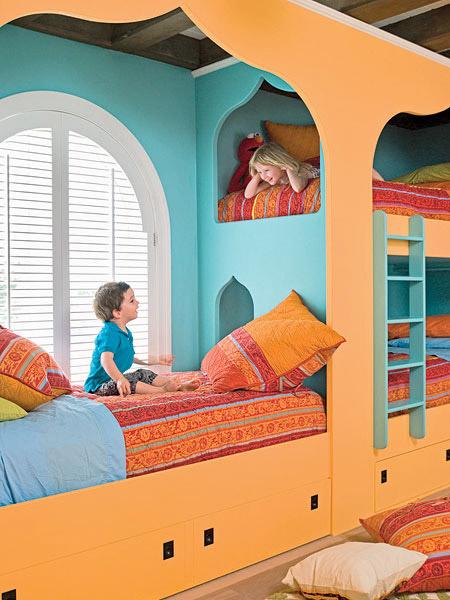 Decoración marroquí: habitación infantil
