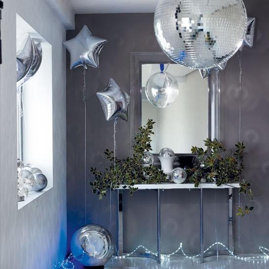 Decoración de navidad con globos