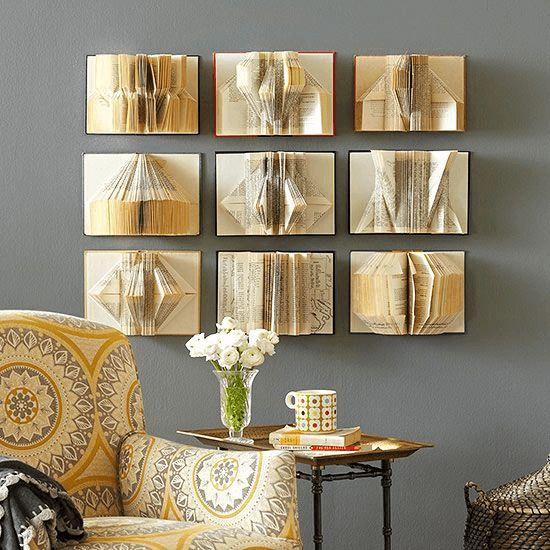 Decorar la pared con libros decoraci n hogar - Libros antiguos para decoracion ...