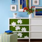 Decorar muebles con plantillas