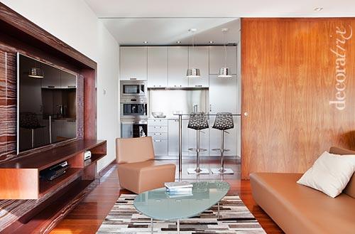 de compartimos este saln moderno y luminoso donde se usan los muebles y detalles justos y domina la sensacin de amplitud