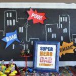 Decoración para una fiesta del Día del Padre