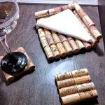 Cómo se hace un servilletero y posavasos con corchos de vino