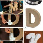 Como hacer letras de cartón para decorar