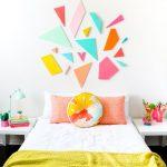 DIY Pared de estilo geométrico