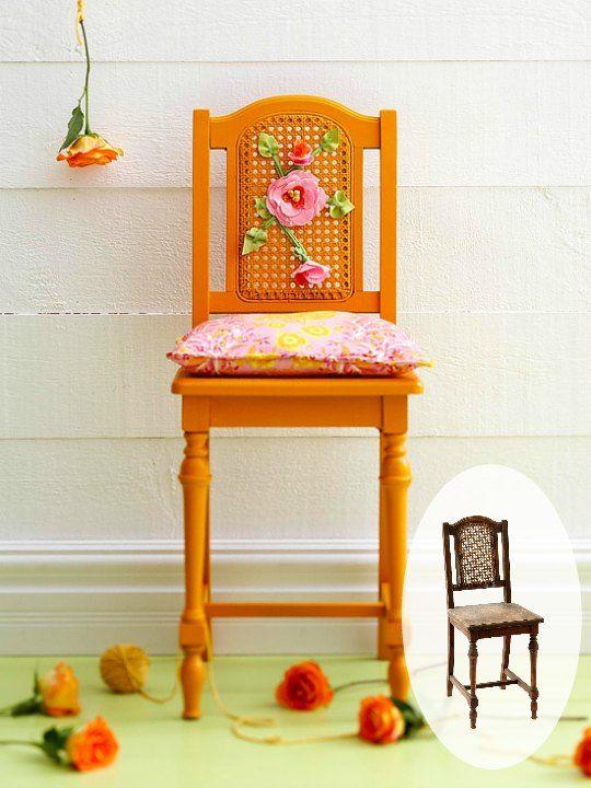 Una silla antigua renovada