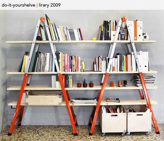 Escaleras como estanterías, inspiración