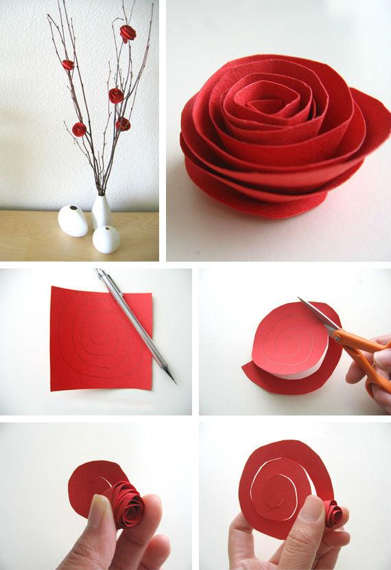 Hogar Decoracion Manualidades ~ Sencillas flores de papel realizadas con cartulina, ideales para