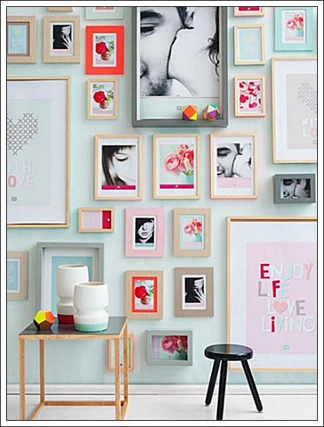 Inspiración galeria de arte en la pared