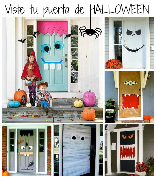 6 Ideas para decorar tu puerta en Halloween