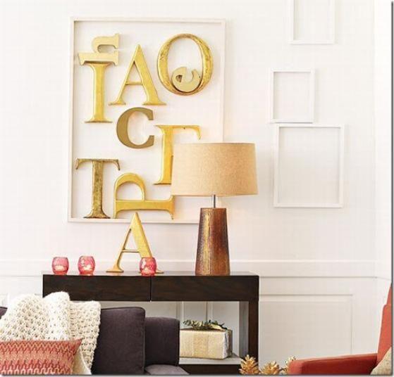 Decoracion Original Paredes ~ El toque especial lo confieren las letras de madera, una colecci?n de