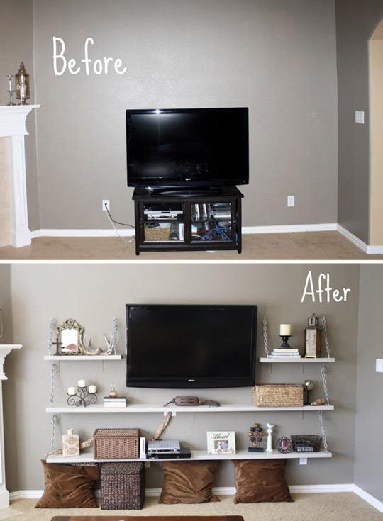 Idea pared del televisor