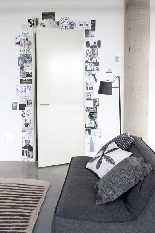 Idea creativa para decorar los marcos de las puertas