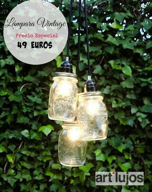Comprar lámpara de tarros de cristal