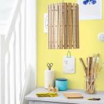 DIY fabrica tu lámpara con reglas de madera