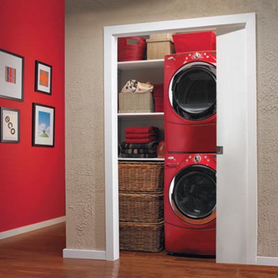 Zona de lavado en un armario