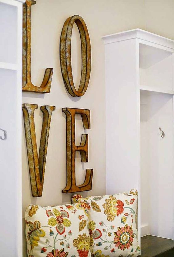 Decoracion Letras Pared ~ Idea para decorar una pared con madera reciclada