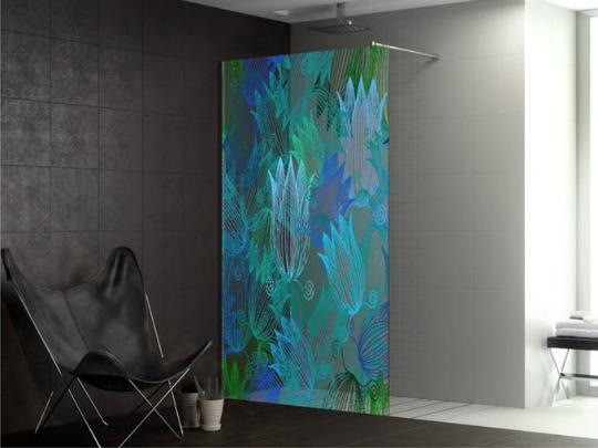 Mamparas de ducha convertidas en obras de arte