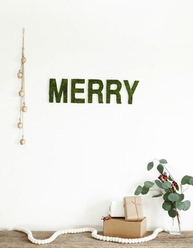 Navidades cretivas: Letras con musgo
