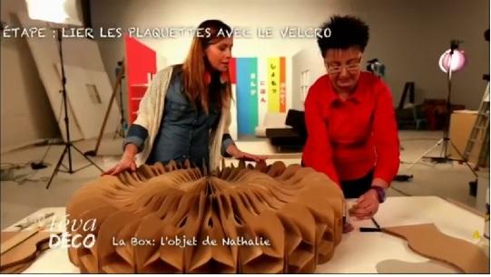 Origami Decoracion De Mesa ~ dos listones de madera y una plancha redonda de plexigl?s