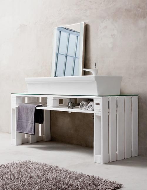 Muebles Para Baño Hechos Con Palets:mueble-baño-palet-1