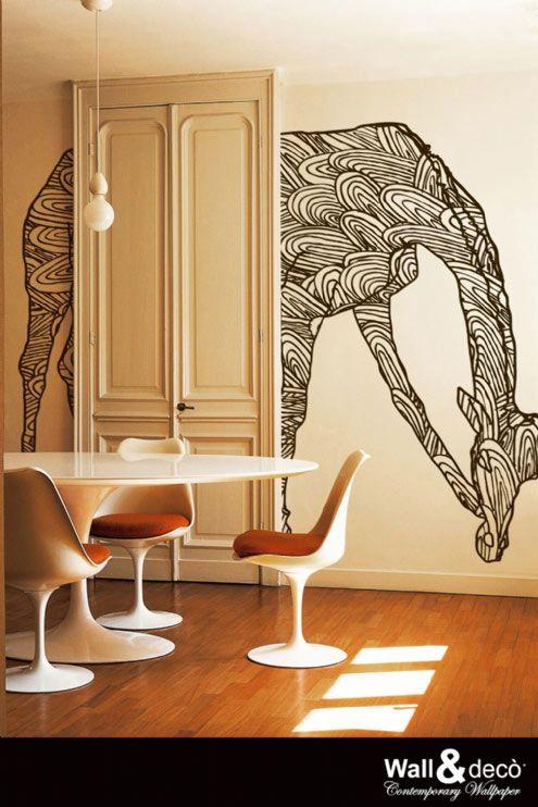 Mural de papel: Jirafa