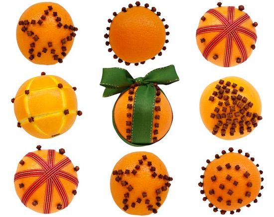 Decoración Navideña con naranjas
