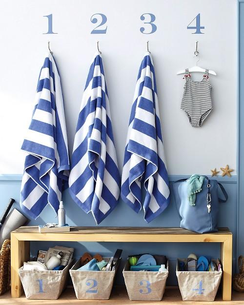 Organizar las toallas de la playa